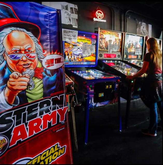 Stern pinball army at play