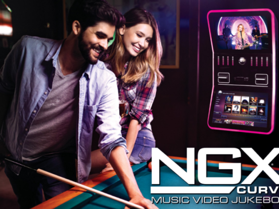 AMI's new NGX Curve digital music jukebox. Available through gAD Vending.