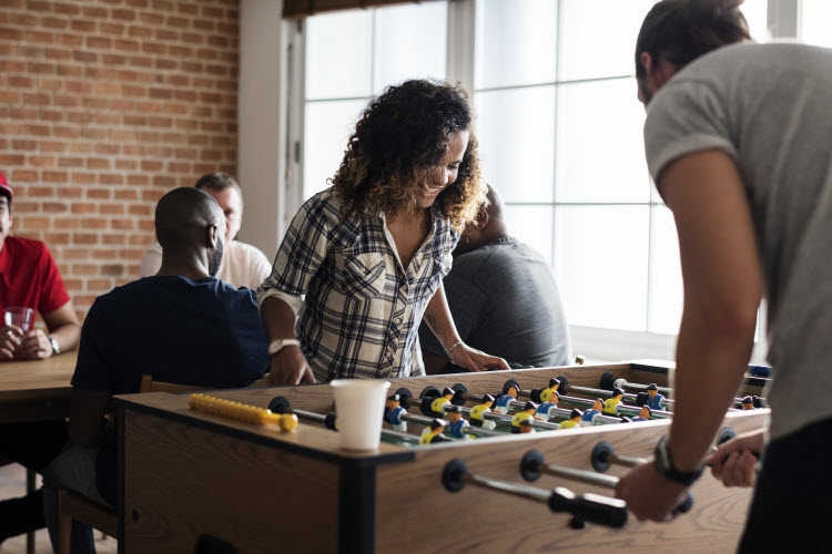 Commercial Foosball available at GAD Vending. Offices in Des Moines, Omaha and Kansas City.