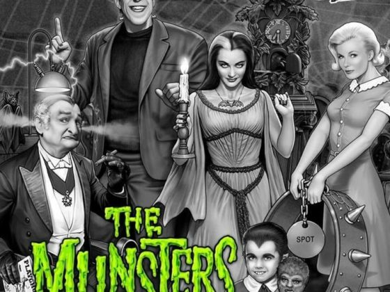 GAD Vending sells Stern The Munsters pinball in black and white.